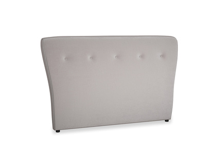 Kingsize Smoke Headboard in Soothing grey vintage velvet