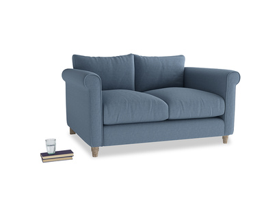 Small Weekender Sofa in Nordic blue brushed cotton