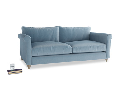 Large Weekender Sofa in Chalky blue vintage velvet