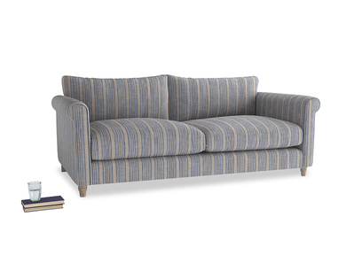 Large Weekender Sofa in Brittany Blue french stripe