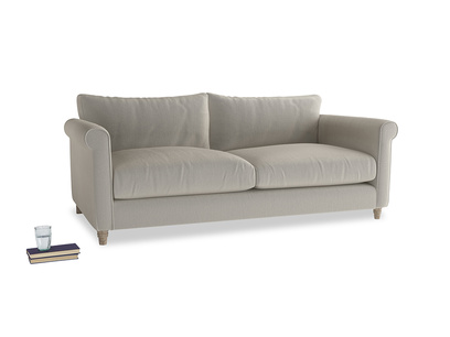 Large Weekender Sofa in Smoky Grey clever velvet