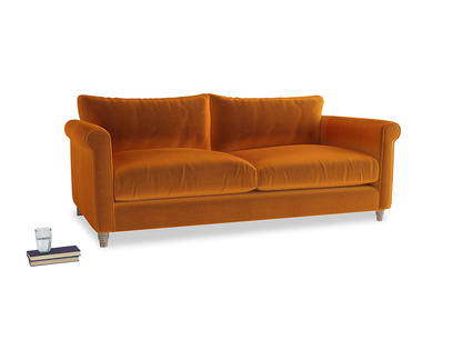 Large Weekender Sofa in Spiced Orange clever velvet