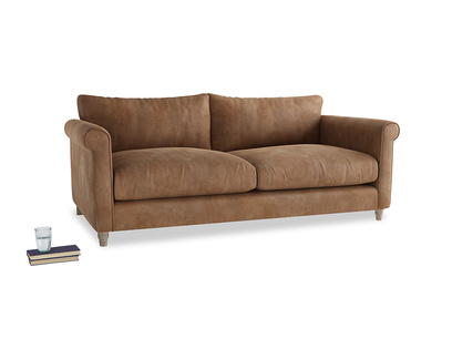 Large Weekender Sofa in Walnut beaten leather