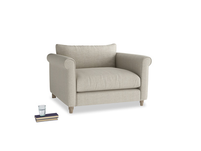 Weekender Love seat in Thatch house fabric