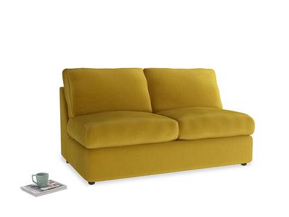 Medium Chatnap Storage Sofa in Burnt yellow vintage velvet