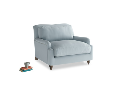 Pavlova Love seat in Scandi blue clever cotton