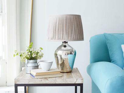 Small Brekka mercury glass base table lamp