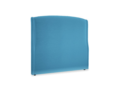 Double Dazzler Headboard in Teal Blue plush velvet