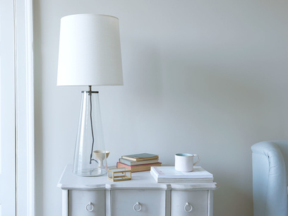 Shardy large glass base table lamp