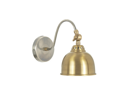 Gaston brass wall light