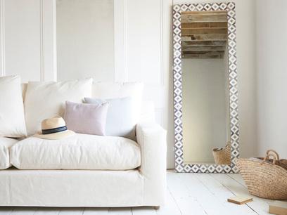 Zebedee bone inlay floor mirror