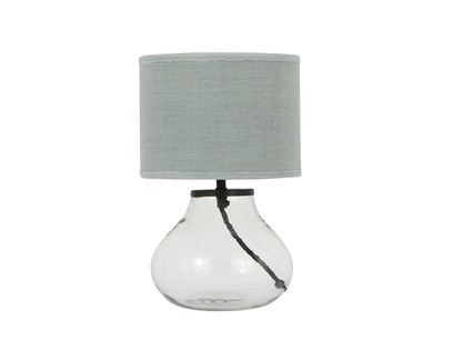Mini Bessy Table Lamp with Sea Salt shade