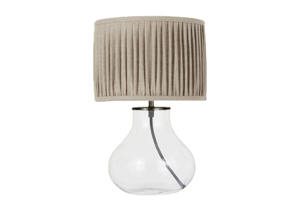 Bessy Table Lamp with Natural Linen pleated shade
