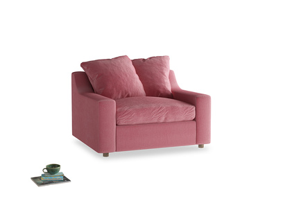 Love Seat Sofa Bed Cloud love seat sofa bed in Blushed pink vintage velvet