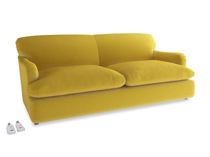 Large Pudding Sofa Bed in Bumblebee clever velvet
