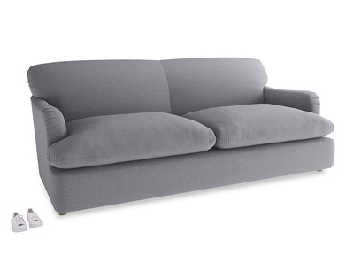 Large Pudding Sofa Bed in Dove grey wool