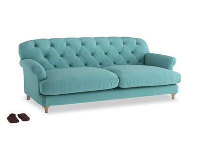 Large Truffle Sofa in Peacock brushed cotton