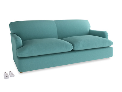Large Pudding Sofa Bed in Peacock brushed cotton