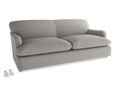 Large Pudding Sofa Bed in Wolf brushed cotton