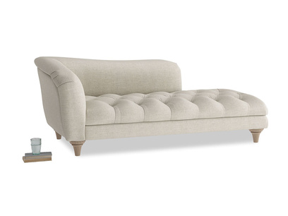 Left Hand Slumber Jack Chaise Longue in Thatch house fabric