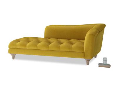 Right Hand Slumber Jack Chaise Longue in Burnt yellow vintage velvet