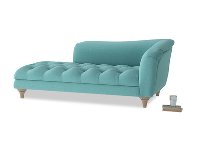 Right Hand Slumber Jack Chaise Longue in Peacock brushed cotton