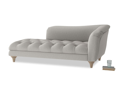 Right Hand Slumber Jack Chaise Longue in Wolf brushed cotton