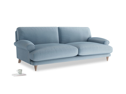 Large Slowcoach Sofa in Chalky blue vintage velvet