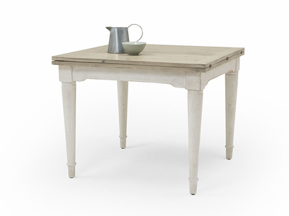 Toaster Flip Top dining table in vintage white wood