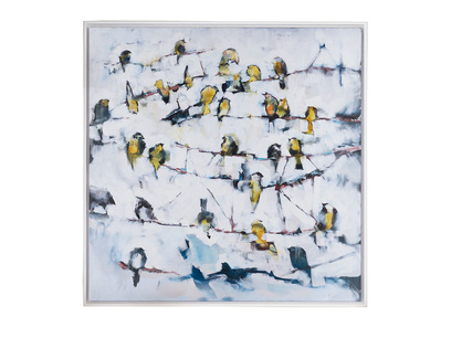 Little Yellow Birds canvas print Ben Lowe
