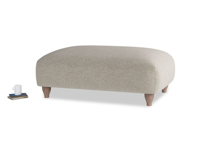 Soufflé Footstool in Birch wool