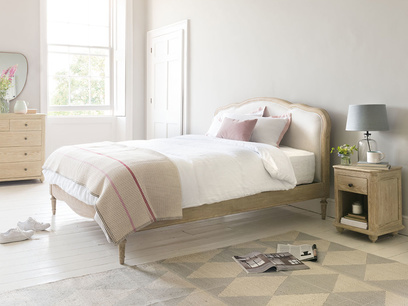 Mirabelle french style upholstered bed