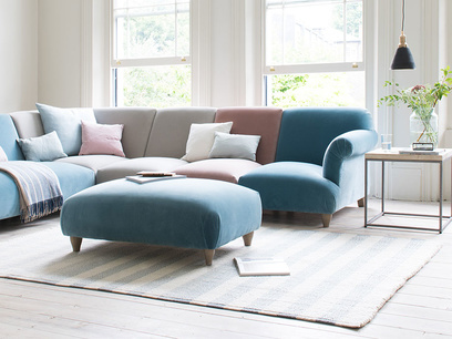 Soufflé contemporary footstool
