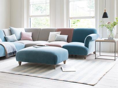 Soufflé contemporary footstool