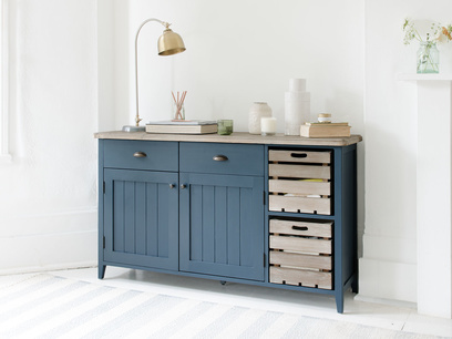 Cidre sideboard in Inky Blue reclaimed fir