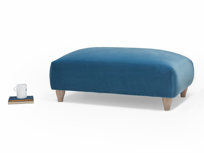 Soufflé upholstered footstool