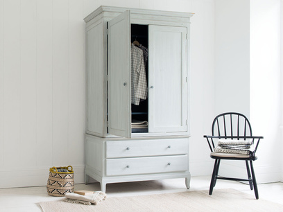 Flutterby wardrobe with inky blue interior