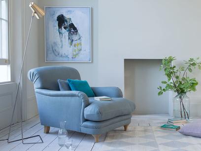Handmade luxury British made Pudding armchair
