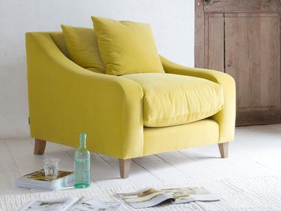 Luxury deep British made handmade comfy Oscar armchair