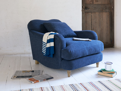Luxury deep hand made Achilles British made armchair