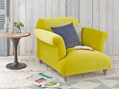 Contemporary comfy luxury British made Soufflè armchair