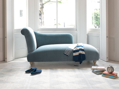 Brontë Chaise longue sofa handmade in Britain in a contemporary style