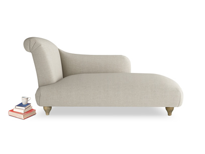 Modern and contemporary Brontë chaise longue extra comfy handmade in Britain