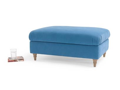 Upholstered British made handmade fabric Flatster footstool