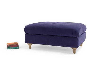 Handmade Jammy Dodger upholstered large footstool