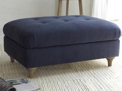 Jammy Dodger upholstered handmade large footstool