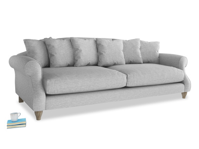 Extra large Sloucher Sofa in Mist cotton mix