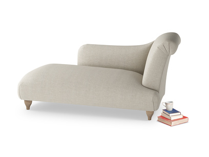 Right Hand Brontë Chaise Longue in Thatch house fabric