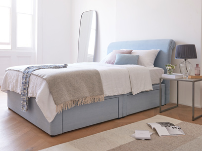 Tight Space storage upholstered contemporary bed