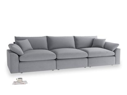Large Cuddlemuffin Modular sofa in Dove grey wool